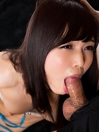 Facefuck slut Shino Aoi begs for cock and licks your cock begging you to fuck her mouth pussy.