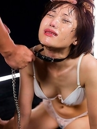 Japanese porn idol Mizuki gets her face destroyed with cock and throat slime.